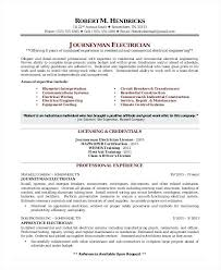 Engineering Technician Resumes Electrical Technician Resume Format Electrician Doc Breathelight Co
