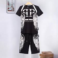 Basket Pant Design 2019 Brand Mens Tracksuits Summer T Shirt Pant Sportswear Fashion Casual Sets Short Sleeve Running Jogging Basketball Clothes Fen Di5 From