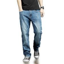 Oversize <b>Men</b> Relaxed Fit Jeans Denim Pants <b>Autumn Winter Plus</b> ...