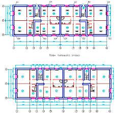 Курсовые работы Теплогазоснабжение и вентиляция ТГВ Каталог  План первого и типового этажа по ТГВ