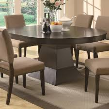 Round Dining Table For 6 With Leaf Amazoncom Myrtle Dining Oval Table W Extension In Coffee Brown