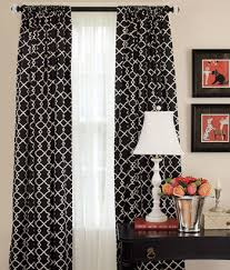 Black And White Curtains 25 Pin Throughout Decorating