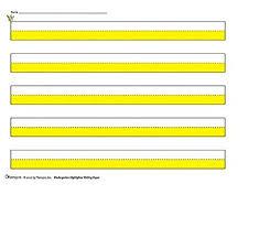 Writing Lines For Kindergarten Kindergarten Highlighter Writing Paper Yellow 125 Sheets