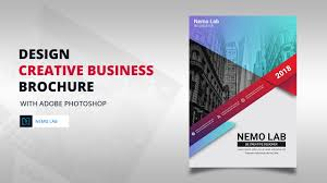 Design Creative Business Brochure With Adobe Photoshop Youtube