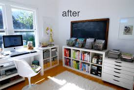 Image Craft Room This Is West Elm Parsons Desk Few Ikea Expedit Shelving Units As Well As One Of Their Alex Flat Files Which Store My Keep Calm Posters Perfectly The Sfgirlbybay The Sfgirlbybay Home Office Sfgirlbybay