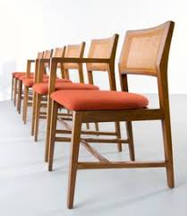 set of six edward wormley for dunbar dining chairs 1960s