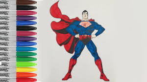 Spiderman, batman, superman et hulk jouent à. Superman Coloring Pages Man Of Steel Coloring Fun Pages Sailany Coloring Kids Youtube