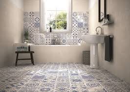 Skyros Delft Blue Wall and Floor Tile Roomset