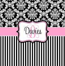 on damask and stripe black white pink by pamperyourstyle 70 00 blue shower curtainsunique