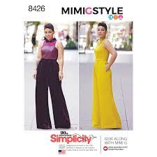 Simplicity Jumpsuit Pattern Delectable Simplicity 48 Misses' Plus Size Jumpsuit By Mimi G