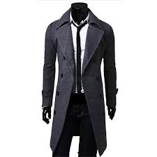 mens formal suit winter coat long wool jacket