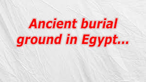 ancient burial ground in egypt codycross crossword answer