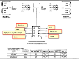 power mirror wiring diagram power image wiring diagram mustang i need the pin out diagram for power mirror switch on power mirror wiring diagram