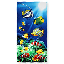 cool beach towels for girls. SURPRISE PIE Cool Fish Beach Towels For Teens Girls