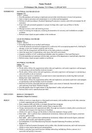Material Handler Resume Barraques Org