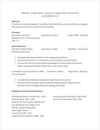 Sample Resumes College Students Resumes Examples For College