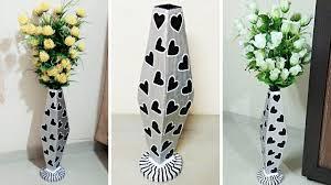 Big Flower Vase Design How To Make Handmade Big Flower Vase With Cardboard At Home