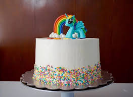 rainbow dash is off to her party today dark chocolate cake with funfetti vanill