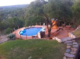 installing above ground pool inground best of 67 best inground pools on hill images on