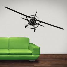 flying aeroplane wall sticker airplane wall decal boys bedroom home decor