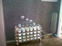 Silver Holographic Glitter, How lovely does this look?  TheBestWallpaperPlace.com Love this wall