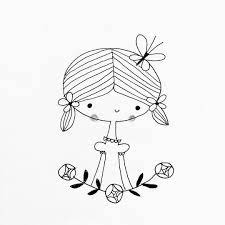 "Shannon Hays on Instagram: ""I pick you. The100DayProject  100daysofgirldoodles flowerpicking garden flowers doodle sket… 