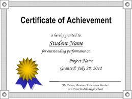 Unique Certificate Of Accomplishment Template Achievement