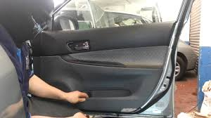 how to change replace front door panel mazda 6 driver side