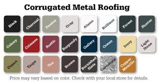 Central States Metal Roofing Color Chart Builders Discount Center Metal Roofing