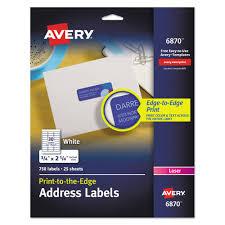 Vibrant Color Printing Return Address Labels 3 4 X 2 1 4 White 750 Pk