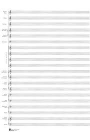 23 Score Pad 20 Stave Concert Band Passantino