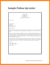 Follow Up Letter Template After Interview Write Follow Up Letter