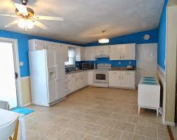 Painting Tiles In The Kitchen Painted Tile Countertops Rectangle Long Kitchen Island White
