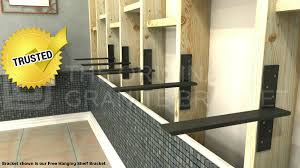 floating countertop brackets. Fine Floating Floating Vanity Supports By The Original Granite Bracket In Countertop Brackets R