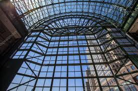 world financial center winter garden atrium manhattan new yor stock photo