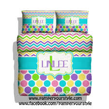 chevron and polka dot bedding with