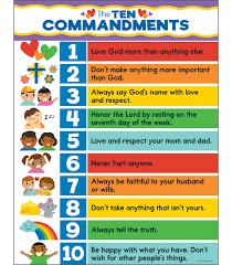 10 Commandments Chart The Ten Commandments Chart