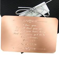 jc jewelry design copper br wallet insert personalized engraved gift for him gift for her wedding vows anniversary love note j c jewelry