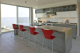 stainless steel kitchen island modern with accent color breakfast bar stools stainless steel kitchen island modern with accent color breakfast bar stools
