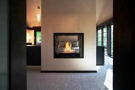 Modern Designs Double Sided Fireplace