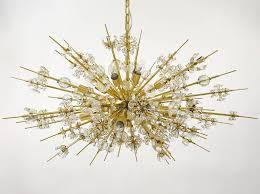 gold sputnik chandelier. Austrian Impressive Bakalowits Miraculoso Gold-Plated Sputnik Chandelier, 1970s For Sale Gold Chandelier