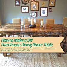 farmhouse table feature