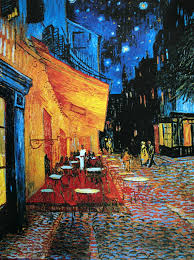 vincent van gogh cafe terrace on the place du forum arles at night
