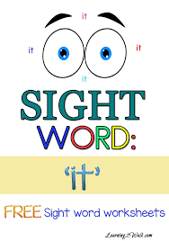 Sight Word Worksheets: it | Worksheets, Homeschool and Activities