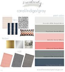 Coral Bedroom Paint Coral Indigo Gray Layered Mix Moody Monday Coral Navy Room