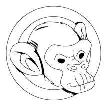 Small Picture Monkey with a banana coloring pages Hellokidscom