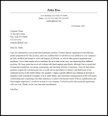 Professional Sel Mechanic Cover Letter Sample Writing Guide Ideas