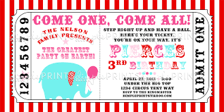 Printable Carnival Tickets Circus Carnival Ticket Printable Invite Dimple Prints Shop