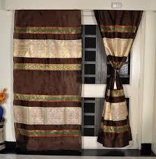 Designer Curtains Flipkart Lal Haveli 215 Cm 7 Ft Silk Door Curtain Pack Of 2 Buy