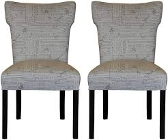 Sole Designs Chair Sole Designs Bella Collection Modern Wingback Upholstered Dining Chair Spring Seating Slipper Side Chair News Stamp Series Storm Set Of 2